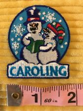 Girl Scout Fun Holiday Christmas CAROLING Patch NEW