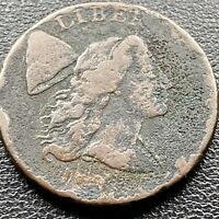 1794 Large Cent Liberty Cap Flowing Hair One Cent Better Grade VF Details #22590