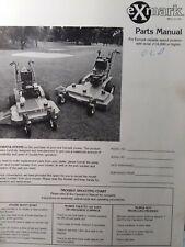 Exmark Metro Walk Behind Variable Speed Lawn Mower Parts Manual 48 32 36 14000