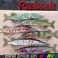 REALSCALE fishing swimbait Savage Trolling jointed lure hard Pike bait Gear plug