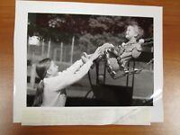 Vintage Glossy Press Photo Natick MA Johnson School Playground Swing Set 9/03/94