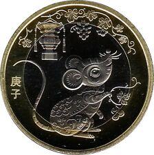 """China 10 Yuan 2020  """"Year of the Rat"""""""