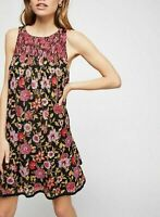 6738 Nwd Free People Oh Baby Floral Printed Smocked Sleeveless Dress X Small XS