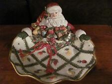 Fitz and Floyd Classic Renaissance Christmas Santa Platter Serving Candy Dish