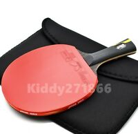 DOUBLE HAPPINESS TABLE TENNIS HURRICANE WANG RACKET PING PONG PADDLE LONG GRIP