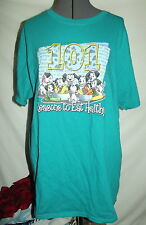 $10 SHIRT SALE WOW! 101 Dalmations Disney TEAL blue L reasons to eat healthy