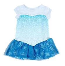 Girls Disney Movie Frozen I Am Elsa Short Sleeve Glitter Blue Costume Dress
