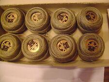 boite 8 boules coton perlé DMC grosseur N° 12 coloris 642  article 116