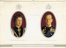 CPA ANGLETERRE ENGLAND Majesty Queen Elizabeth II & Royal Highness Prince Philip