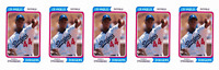 (5) 1992 SCD #72 Darryl Strawberry Baseball Card Lot Los Angeles Dodgers