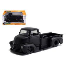 1952 Chevrolet COE Pickup Truck Matt Black 1/24 Diecast Model by Jada
