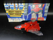 1983 vintage Tonka Gobots Fitor jet toy Machine Robo Guardian robot nice figure
