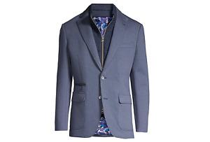 $698 Robert Graham Downhill Knit Sportcoat Blue Men's sz 40 R Tailored Fit New