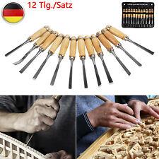 12ER Stecheisen Schnitzen Schnitzmesser Hohlbeitel Holzbeitel Holzgriff Werkzeug