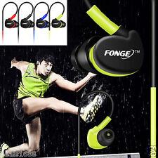 Waterproof In Ear Earphones HIFI Sports Headphones Bass Headset Earbuds Mic CY