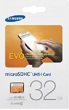 Samsung EVO 32GB microSD 48MB/s C10 U1 UHS 32G microSDHC micro SDHC MB-MP32D
