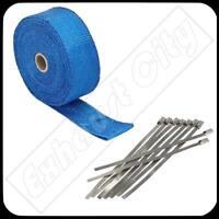 """Blue Exhaust//Header Heat Wrap 2/"""" x 25/' Roll"""