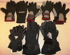 Lot of 8 Sets of Scuba Diving Snorkeling Gloves Black XS S M L XXL Cuff Grips