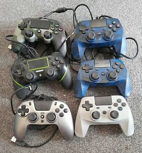 joblot bundle 6 unofficial 3rd party Sony PS4 controllers pads faulty spares
