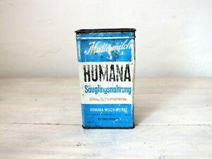 antike Blechdose Humana Säuglingsnahrung Muttermilch