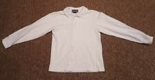 Girl's White Land's End School Uniform Shirt, Long Sleeve, Sz.8