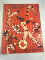 1969 Boston Red Sox Official Program and Score Card Fenway Park vs. Indians