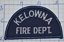 CANADA, KELOWNA FIRE DEPT BRITISH COLUMBIA PATCH