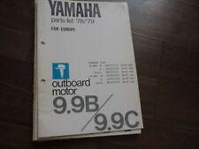 Yamaha parts list Teileverzeichnis 1978/79 outboard motor Serie 9.9B/C Original
