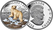Iconic Polar Bear - 2014 Canada $20 Fine Silver Coin - Coloured