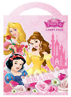 Disney Princess Carry Pack Stickers Colouring Activity Set Gift Stocking Filler