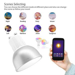UK GU10 Smart Bulb App Remote Control RGB 5W WiFi Light For Alexa Google