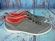 ECCO Gray Suede Casual Sneakers Athletic Sport Walking Shoes Women's 41 / 10