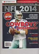 USA TODAY SPORTS MAGAZINE PRESENTS NFL FOOTBALL 2014, COWBOY'S CROSSROADS.
