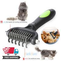 Pet Dog Cat Hair Fur Shedding Trimmer Grooming Dematting Rake Comb Brush Tool US