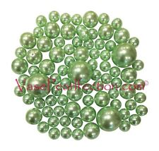 80 All Mint Green Pearls-Jumbo/Assorted Sizes for Vase Decorations