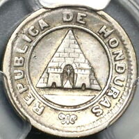 1886 PCGS VF 25 Honduras 5 Centavos Large Pyramid Silver KM-54 Coin (20070701C)
