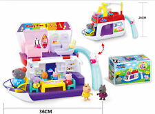 Movie Action Figures Peppa Pig Grandpa's Boat Ship &10pcs Figure TV Toys
