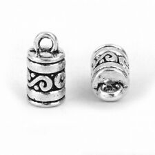 6 x CORD END BEAD CAPS TIPS 4.5mm for KUMIHIMO Bracelets ANTIQUE SILVER