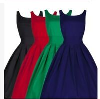 UK Christmas Womens  Sleeveless Flared Franki Mini  Short Party Skater Dress Top