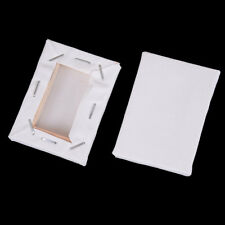 2x White Blank Mini Stretched Artist Canvas Art Board Acrylic Oil Paint5*7cm JR