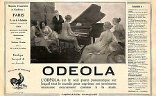 PARIS RUE DU 4 SEPTEMBRE PIANO ODEOLA PUBLICITE 1926