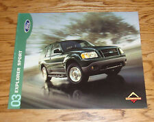 Original 2003 Ford Explorer Sport Sales Brochure 03 XLS XLT 2nd