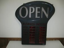 Newon Led Lighted Business Open Sign # 4908 Electronic w Hours Flashes