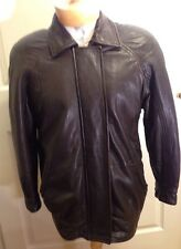 Leather Jacket Andrew Marc Biker Bomber Brown Zip Small