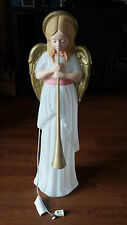 Blow Mold Angel Wings Horn Bugle Christmas Ornament Decoration Working Light #2