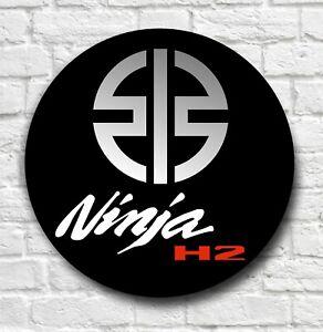 KAWASZKI NINJA H2 2FT LARGE GARAGE SIGN PLAQUE MOTORBIKE MOTORCYCLE MAN CAVE