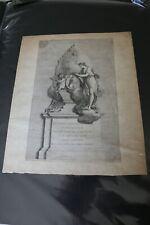 Original Monument of Johann Christian Bach Vintage Etching Print