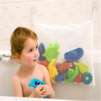 New!! Kids Baby Bath Time Toy Storage Suction Cup Bag Mesh Bathroom Tidy Net FI