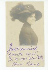 Pretty Girl in Hat RPPC New York Store Candy Dept Indianapolis KY Salesman Photo