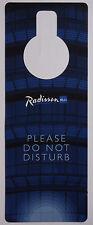 Tür-Anhänger / Hänger: Hotel Radisson BLU – Please do not disturb